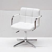 Кресло Arno-Arm Modern Base белый экокожа, с подлокотникаими на стопах с регулировкой высоты