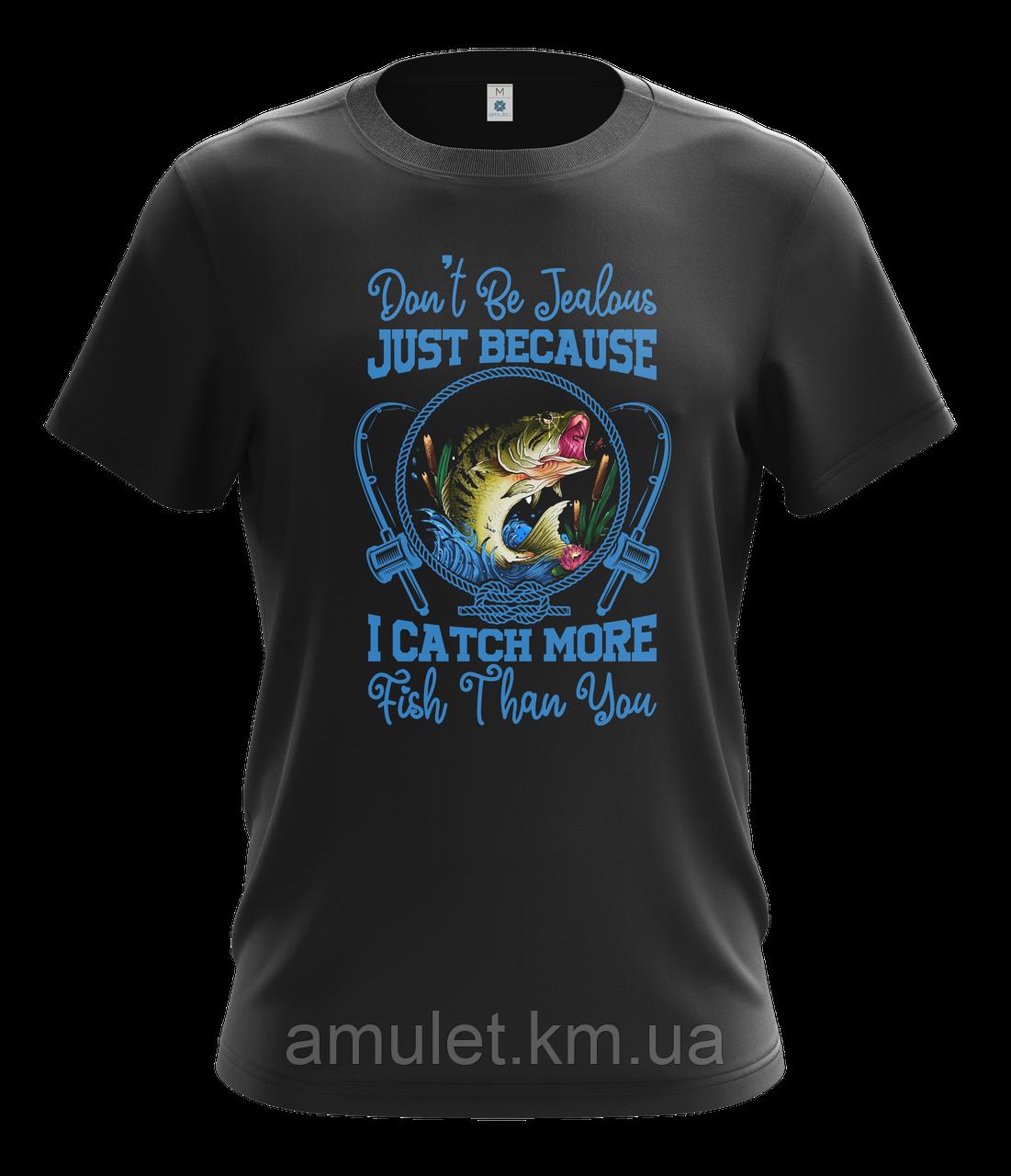 """Мужская футболка для охотников с принтом """"Охота """" черная"""