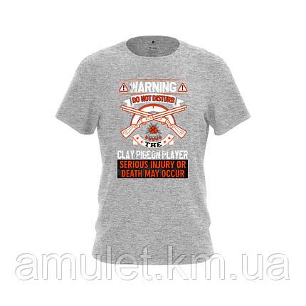 """Мужская футболка для охотника с принтом """"Охота """" серая, фото 2"""