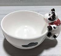 Пиала керамическая Веселая коровка 420 мл, фото 1
