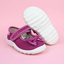 Детские текстильные туфли тапочки для девочки Катя розовый бант тм Waldi размер 21,27, фото 2