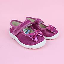 Детские текстильные туфли тапочки для девочки Катя розовый бант тм Waldi размер 21,27, фото 3