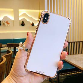 Чохол для iPhone X силіконовий з посиленими кутами, Sulada, Білий