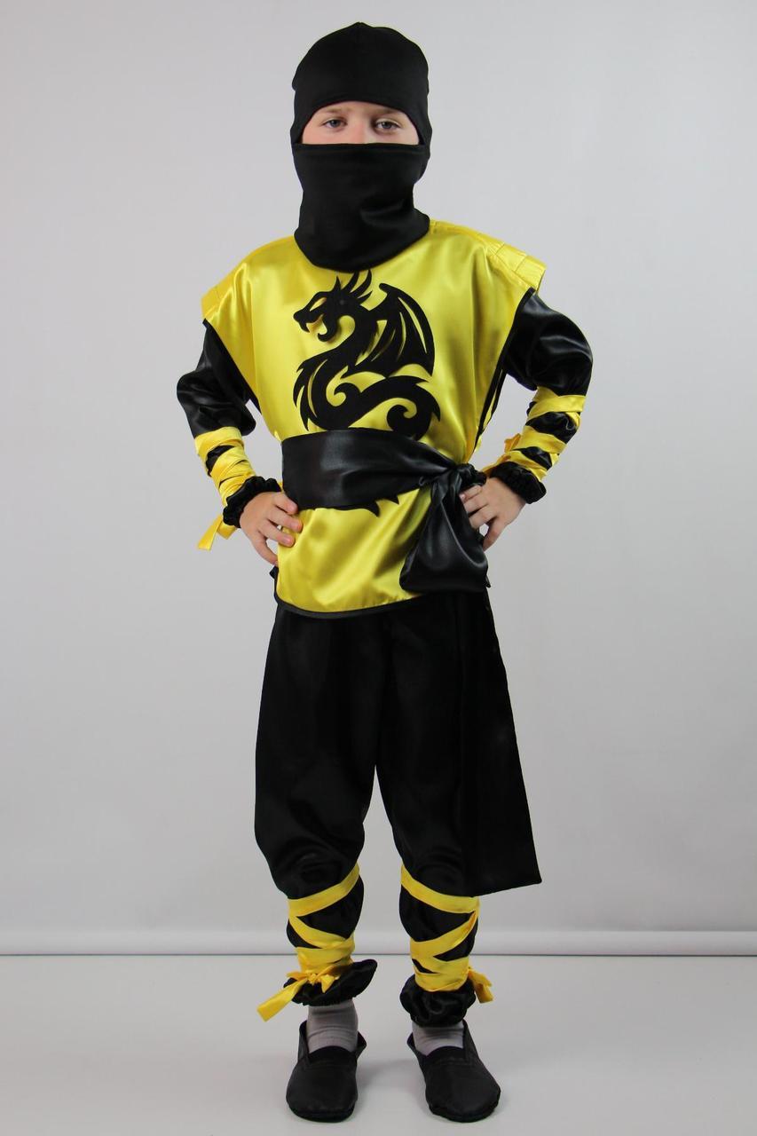 Детский карнавальный костюм Ниндзя для мальчика 5-8 лет