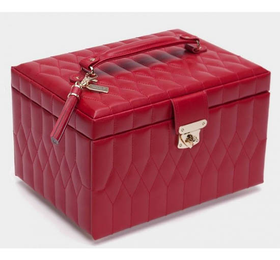 Шкатулки для украшений Wolf 329772 Caroline Med Box Red