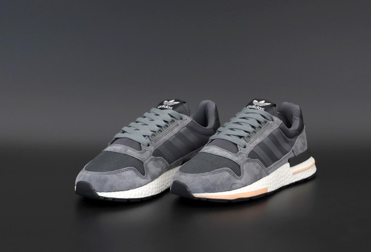 Мужские серые кроссовки Adidas ZX 500 RM Commonwealth