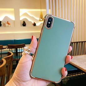 Чохол для iPhone X силіконовий з посиленими кутами, Sulada, Зелений