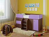 """Дитяче ліжко горище з шафою, ящиками для білизни та іграшок """"Астра 5""""Шафа ліжко-горище,ліжко трансформер, фото 5"""