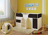 """Дитяче ліжко горище з шафою, ящиками для білизни та іграшок """"Астра 5""""Шафа ліжко-горище,ліжко трансформер, фото 7"""