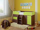 """Дитяче ліжко горище з шафою, ящиками для білизни та іграшок """"Астра 5""""Шафа ліжко-горище,ліжко трансформер, фото 4"""