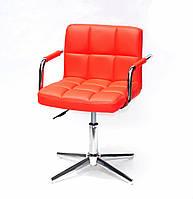 Кресло Arno-Arm Modern Base красный 1007 экокожа, с подлокотникаими на стопах с регулировкой высоты