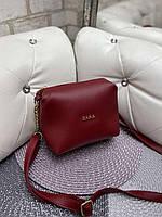 Женская сумка клатч красная маленькая сумочка через плечо кроссбоди молодежная кожзам