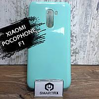 Силиконовый чехол для Xiaomi Pocophone F1 Molano Cano Бирюзовый