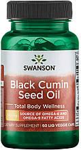 Масло чорного кмину, Swanson Black Cumin Seed Oil caps 60