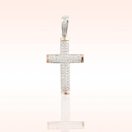Срібний хрестик з золотими пластинами, фото 2