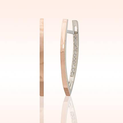 Серебряные серьги со вставками из золота, фото 2