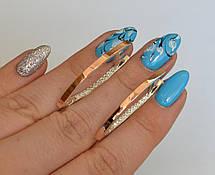 Серебряные серьги со вставками из золота, фото 3