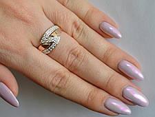 Серебряное кольцо с накладками из золота, фото 2