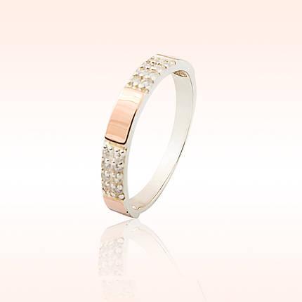 Серебряное кольцо с пластинами из золота, фото 2