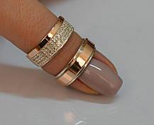 Пара серебряных обручальных колец, фото 3