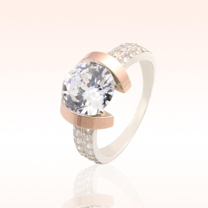 Серебряное кольцо со вставками из золота