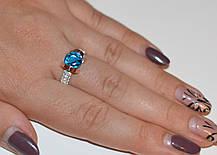 Серебряное кольцо со вставками из золота, фото 3