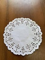Салфетки бумажные круглые ажурные Ø 320 мм (уп 100 шт) 050000140