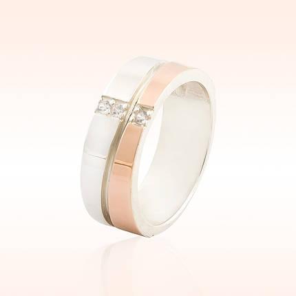 Серебряное обручальное кольцо, фото 2