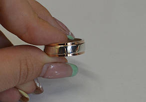 Обручку з срібла з золотими вставками, фото 2