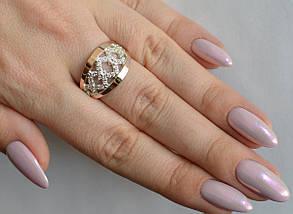 Кольцо серебро с золотом, фото 2