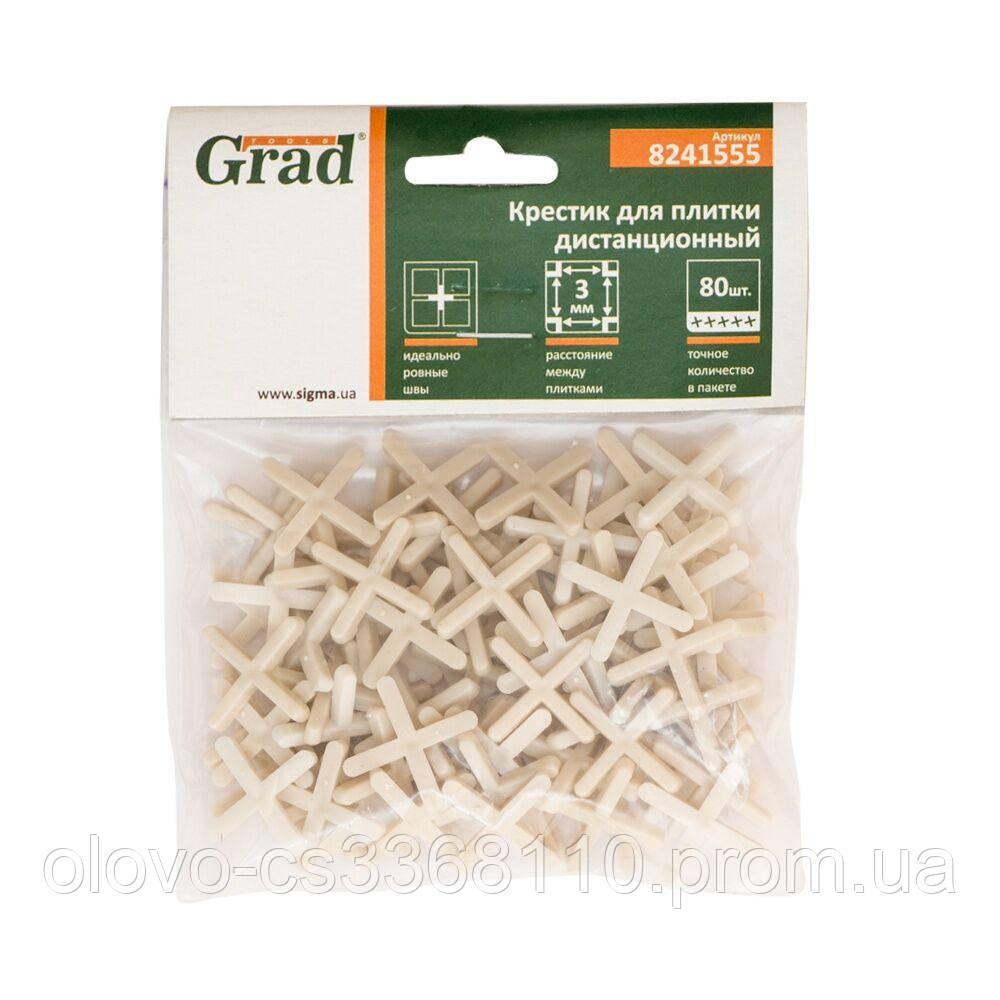 Хрестики дистанційні для плитки 3 мм, 80 шт (8241555)