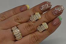 Срібний комплект з напайками із золота, фото 2