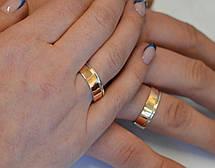 Срібна обручка з золотом, фото 2