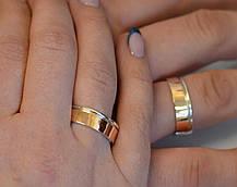 Срібна обручка з золотом, фото 3