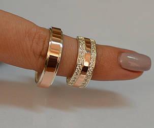 Пара серебряных обручальных колец, фото 2