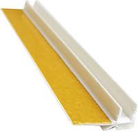 Профиль оконный примыкания (примыкающий) с манжетой 6мм без сетки, фото 1