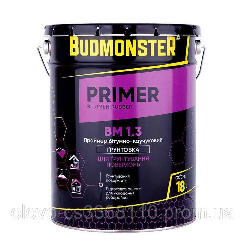 Праймер бітумно-каучуковий BudMonster, 18 л