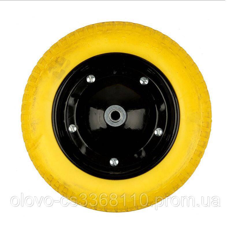 Колесо лите поліуретан, диск чорний 3.0х8 14370 (01-046)