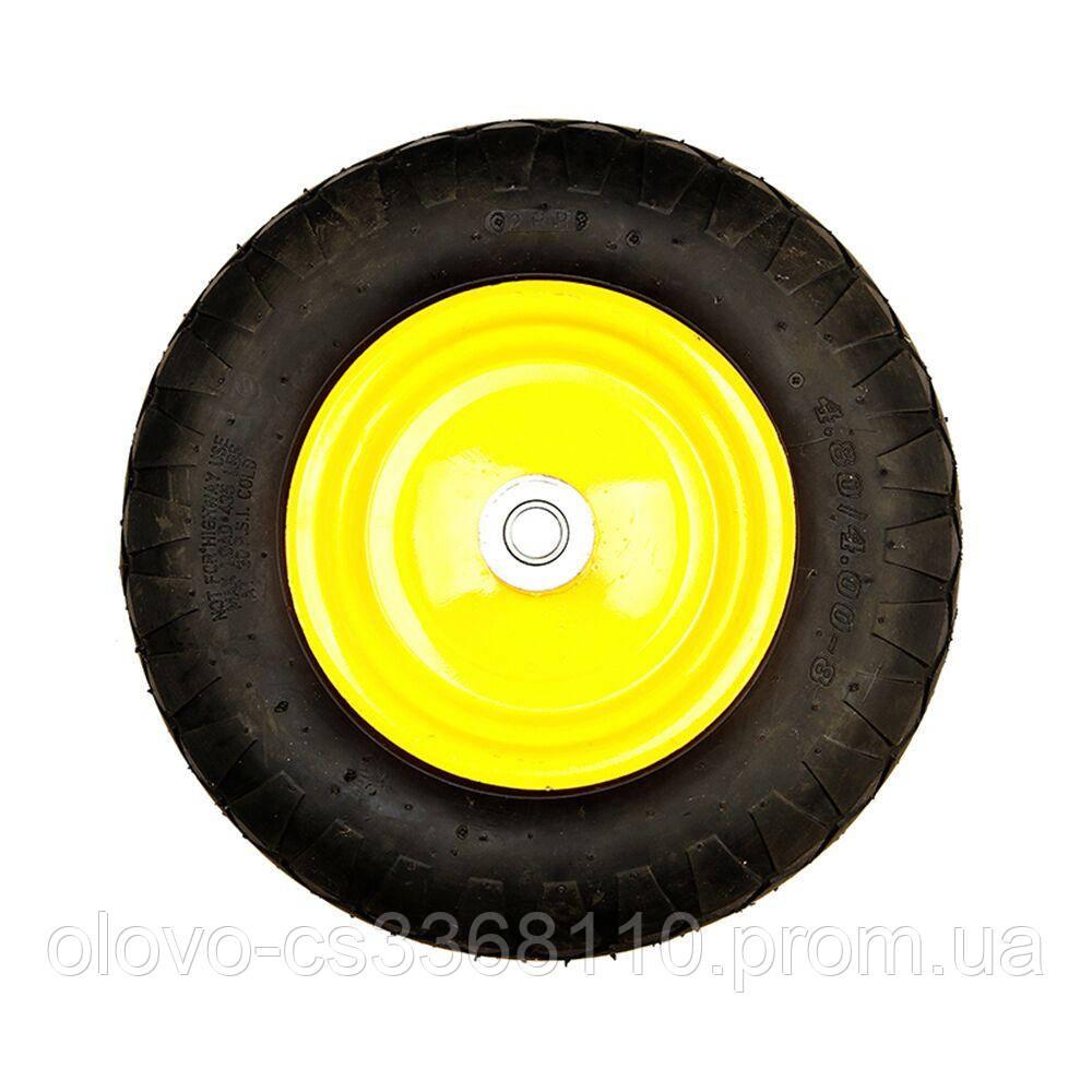 """Колесо BudMonster пневмо 4.0х8 """", о/d=20мм, d=38см, втулка 130 мм (01-014)"""