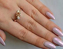 Серебряное кольцо с золотыми вставками, фото 2
