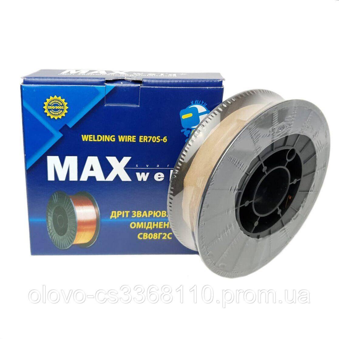 Дріт зварювальний MAX weld Gradient ER70S-6, 0.8 мм 4кг, котушка D200-4