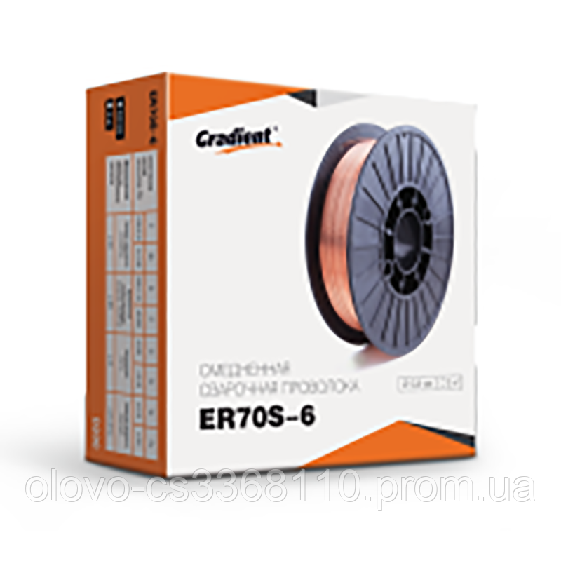 Дріт зварювальний ER70S-6 d = 1.0 мм, 15 кг червона (нетто 14.5 кг) (WW-6R10145C)