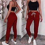 Женские спортивные трикотажные штаны на манжете, 7цветов,  Р-р.42-44,44-46,48-50 Код 448Ц, фото 4