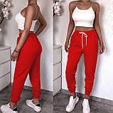 Женские спортивные трикотажные штаны на манжете, 7цветов,  Р-р.42-44,44-46,48-50 Код 448Ц, фото 6