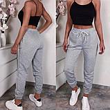 Женские спортивные трикотажные штаны на манжете, 7цветов,  Р-р.42-44,44-46,48-50 Код 448Ц, фото 7