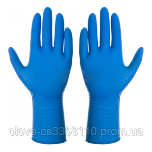 Рукавиці медичні Ambulance 1-й сорт сині S (25 пар уп)