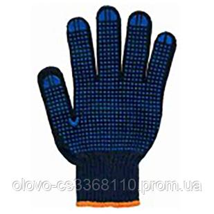 Рукавиці синтетика чорні з ПВХ покриттям (Польща ЛЮКС) Олександрія