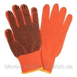 Рукавиці х/б помаранчеві з ПВХ покриттям (СОЮЗ ЛЮКС) Олександрія