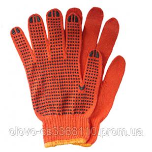 Рукавиці помаранчеві з ПВХ крапкою