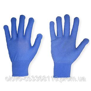 Рукавиці нейлонові з точкою (сірий, синій, чорний, червоний, фіолетовий)